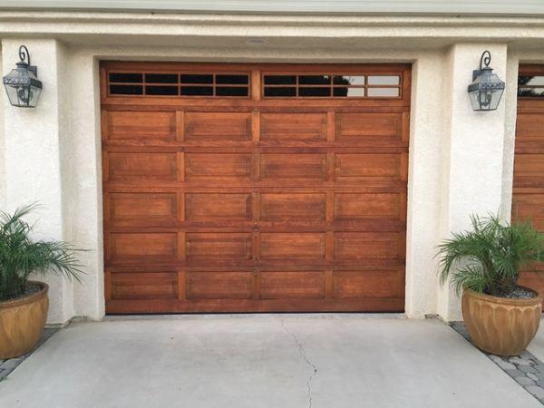 Armstrong Clark Redwood Tone on Garage Door