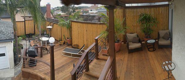 Armstrong Clark Semi Trans Cedar Deck Fence