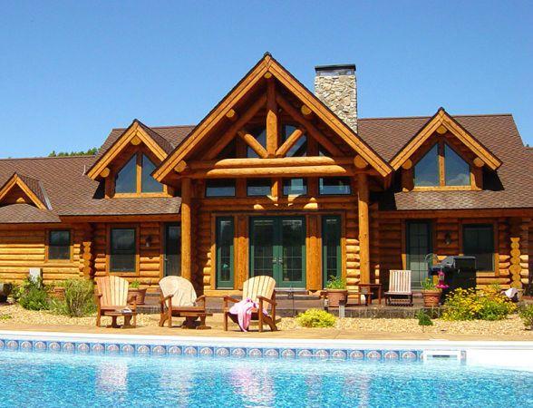 Armstrong Clark Semi Trans Cedar Log Home5