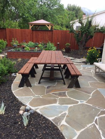 Armstrong Clark Semi Trans Chestnut Fence and Table
