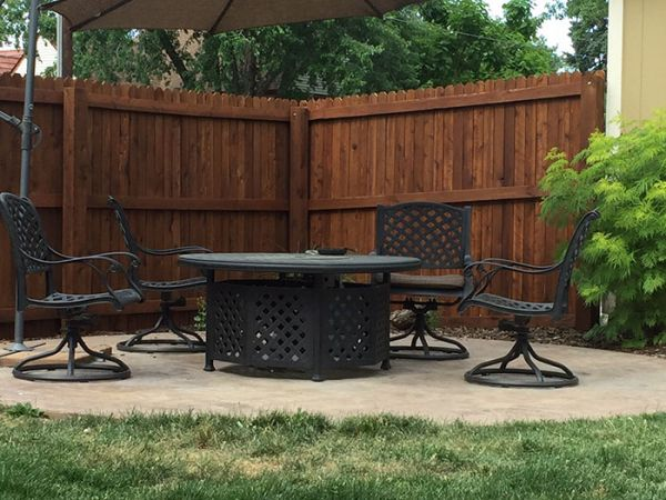 Armstrong Clark Semi Trans Natural Oak Fence