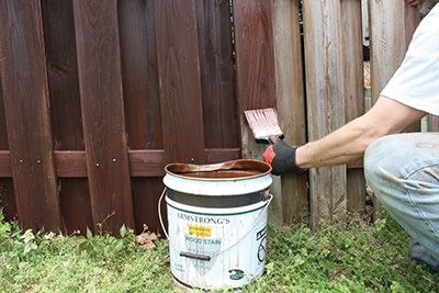 Armstrong Clark Semi Trans Rustic Brown Fence2